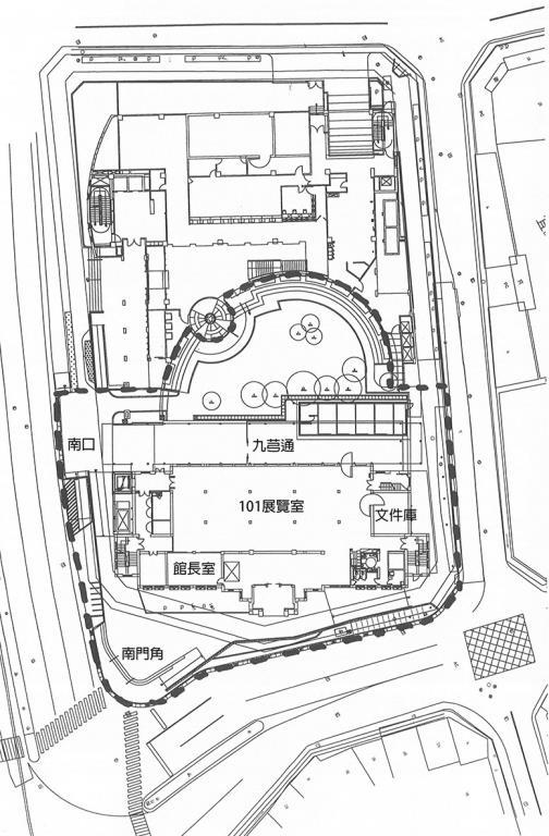 宜蘭美術館園區平面配置圖