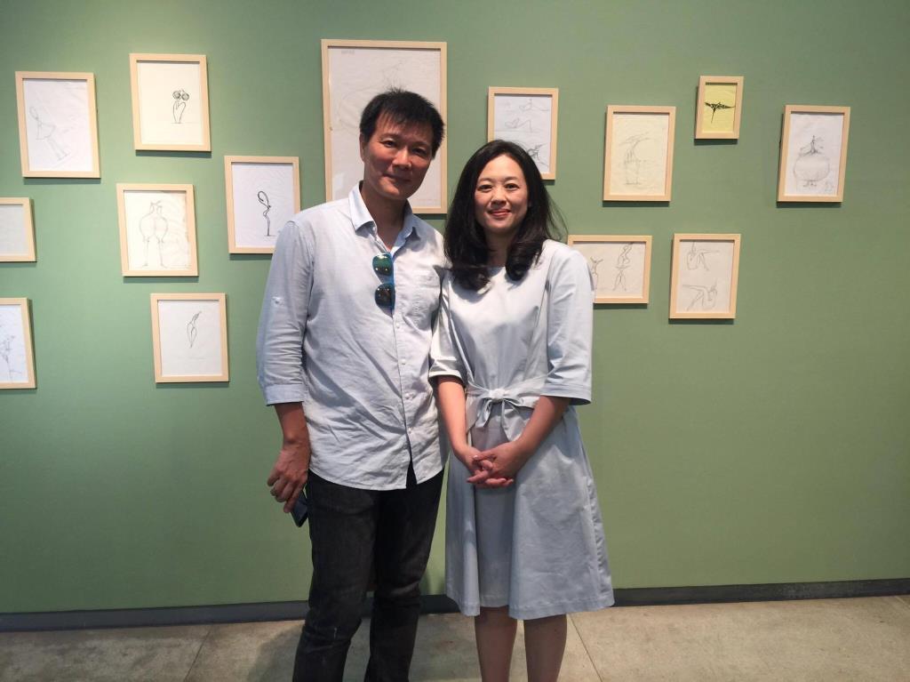 蔡詩萍先生與莊靜雯老師
