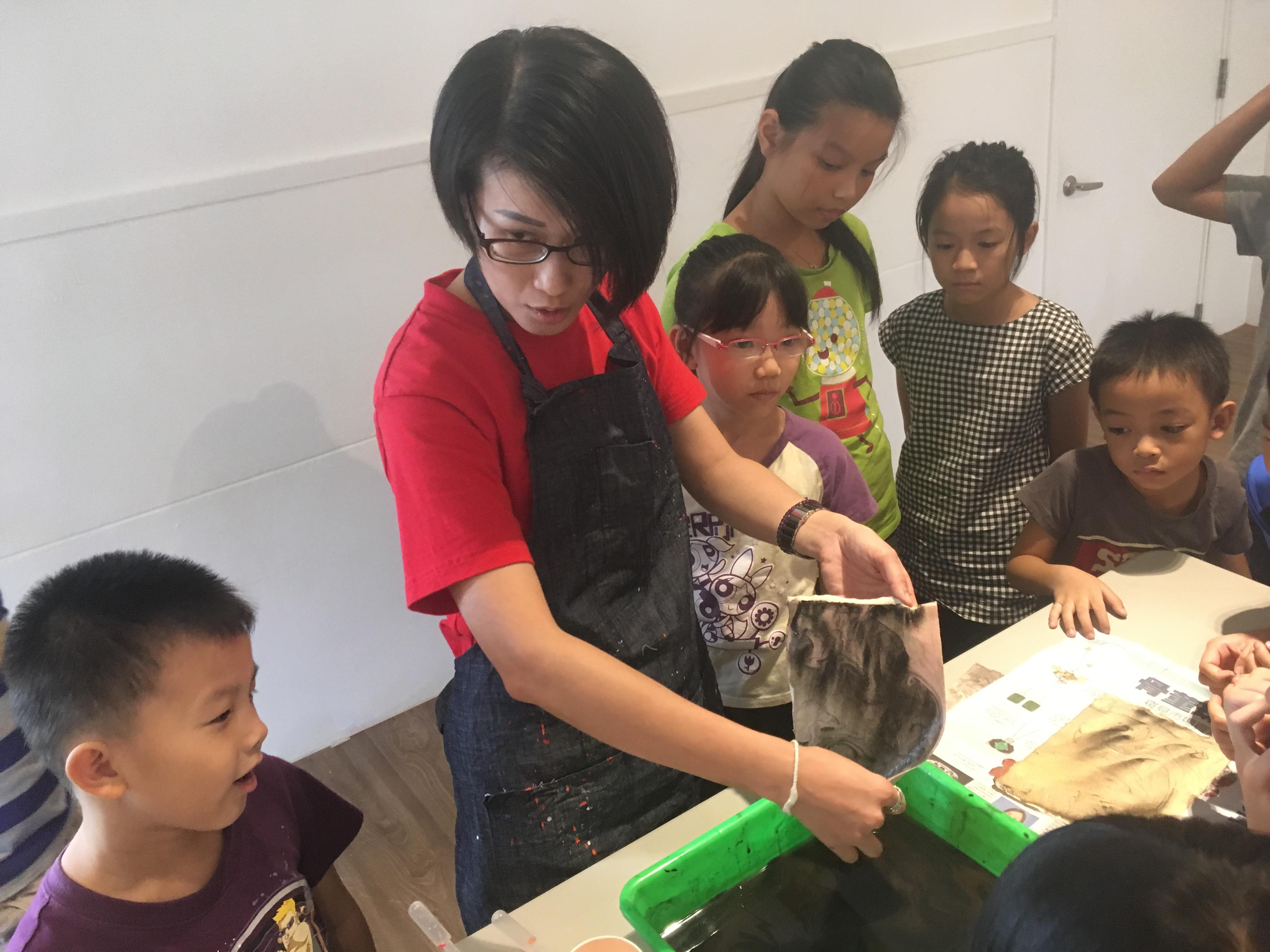 「水墨遊戲」兒童美術體驗課程1