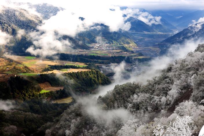 南山村雪景