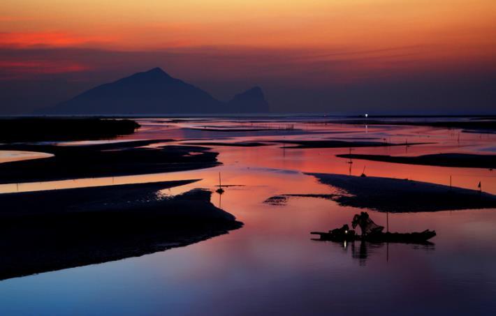 蘭陽溪出海口夕照