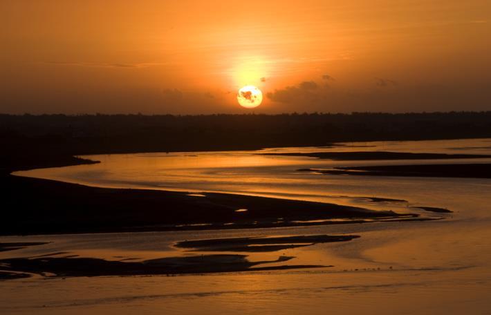蘭陽溪日出
