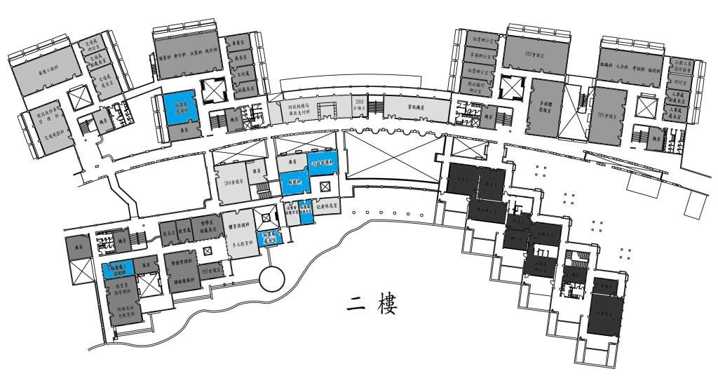 辦公室位置圖二樓