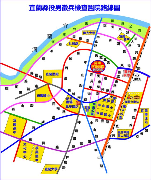 國立陽明交通大學附設醫院新民院區地圖