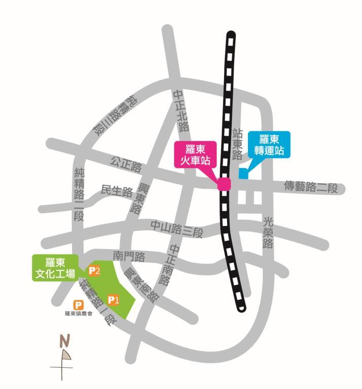 羅東文化工場停車圖
