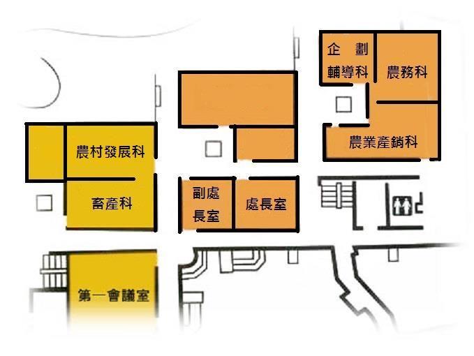 辦公室位置圖