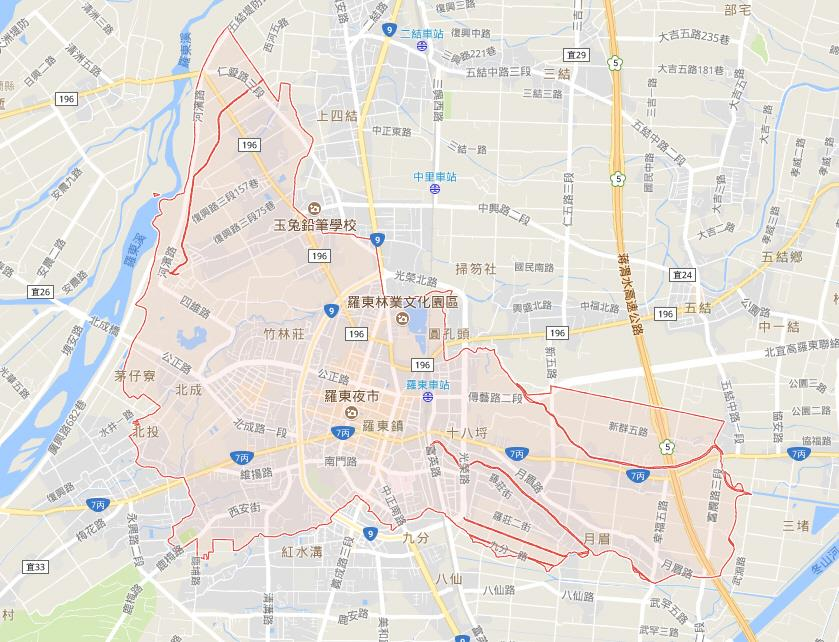 google map Luodong Township for detail