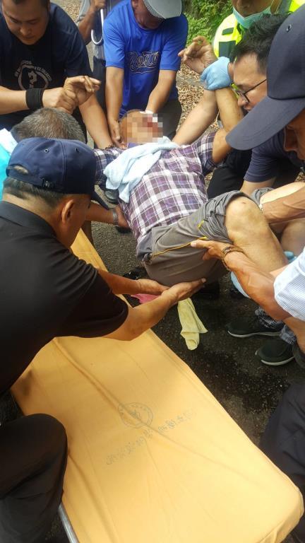 參與喪禮不慎跌入邊坡受傷 三星警馳騁協助救援