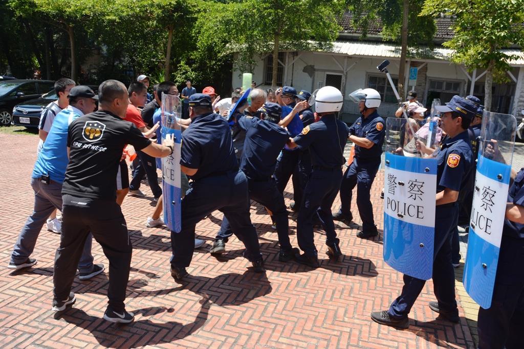 108年防處網路號召行為聚眾活動演練強化陳抗應變能力