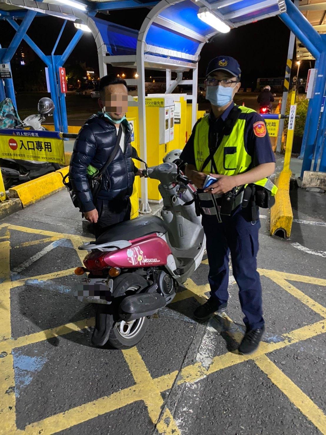 停車場未見機車誤以為失竊 宜警熱心協助尋回