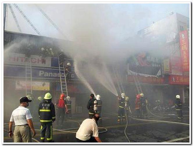 宜蘭縣宜蘭市復興路二段賣場火警圖,共2張。
