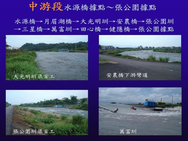 安農溪泛舟中游段圖