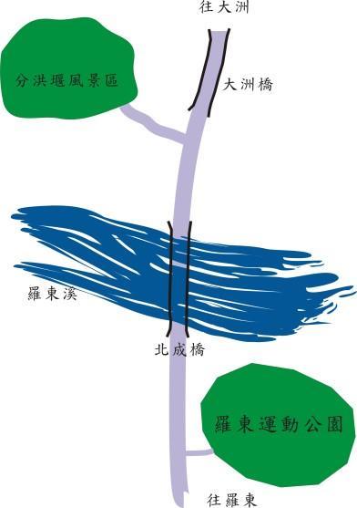 分洪堰風景區地圖