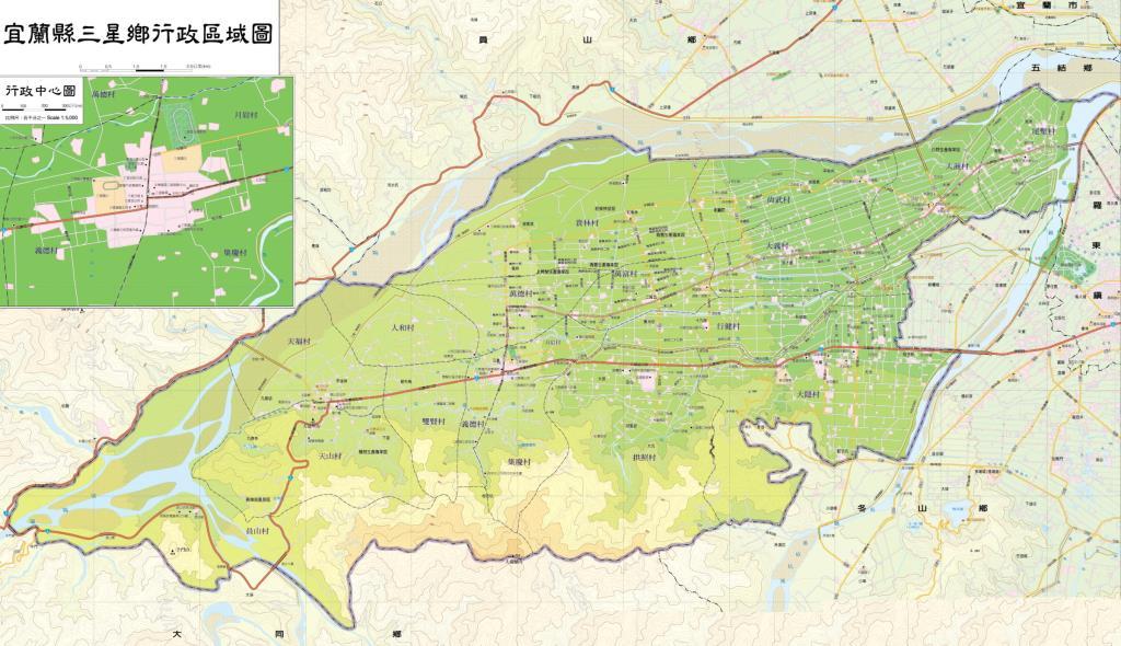 三星鄉行政區域圖