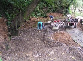 於龍泉瀑布風景區營造水生黃緣螢復育池