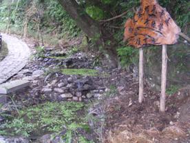 已完成之龍泉瀑布風景區黃緣螢復育池