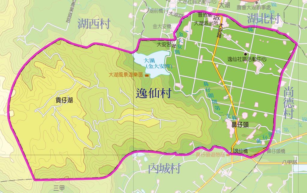 逸仙村地圖