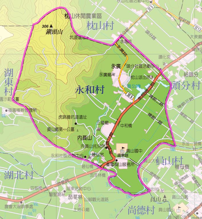 永和村地圖