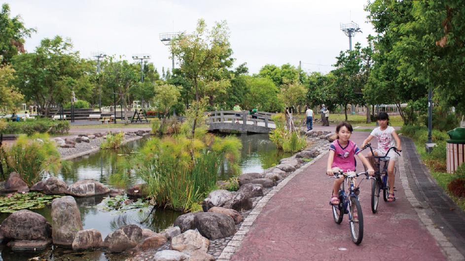 員山公園自行車圖