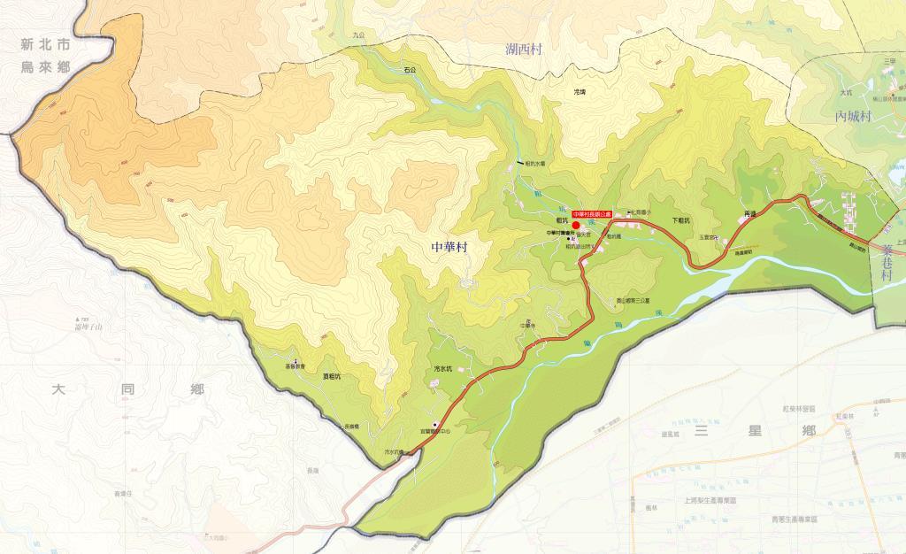 中華村地圖
