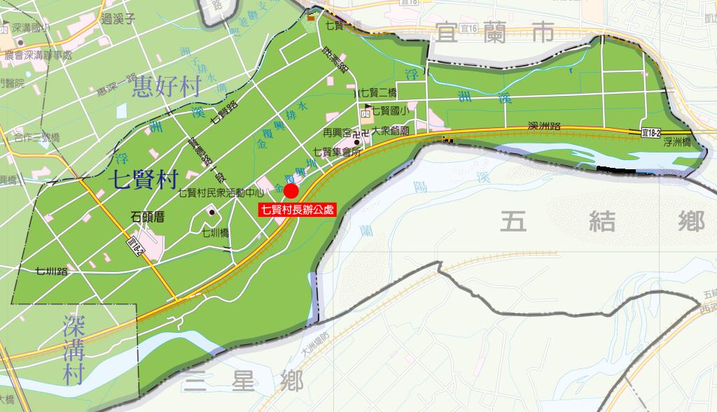 七賢村地圖