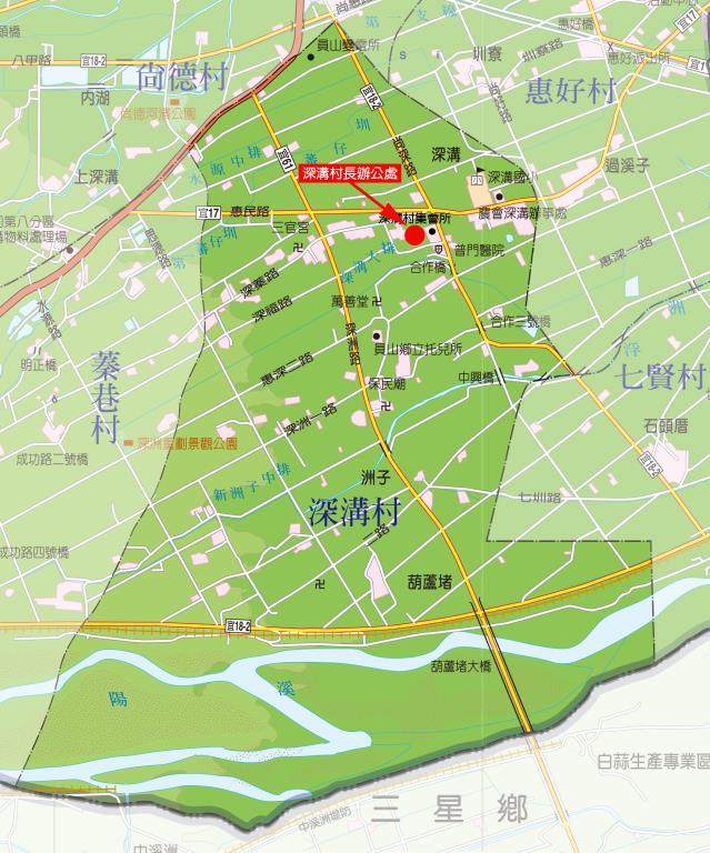 深溝村地圖