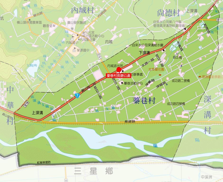 蓁巷村地圖