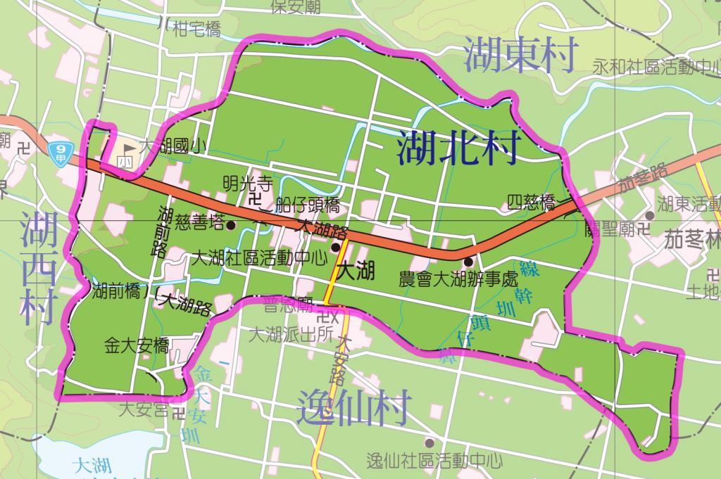 湖北村地圖