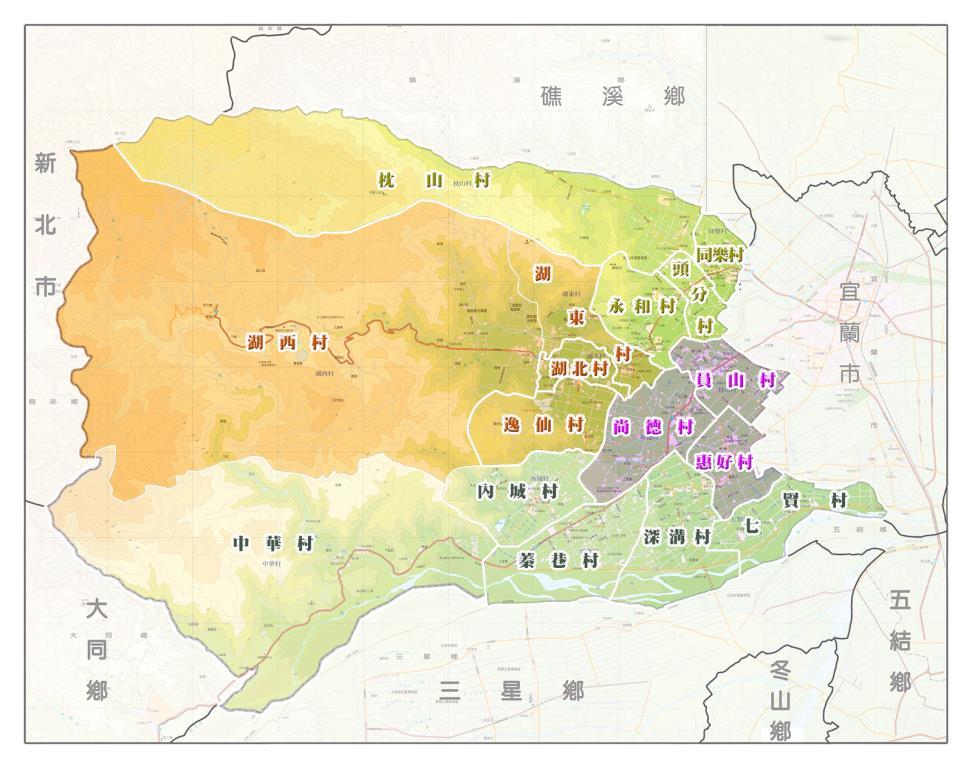 員山鄉地圖
