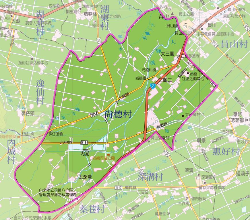 尚德村地圖