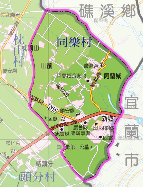 同樂村地圖