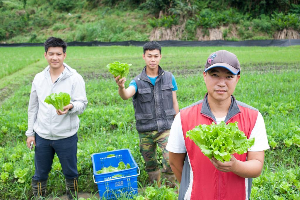 蓮成農特產品館-負責人與他們種植的農作物