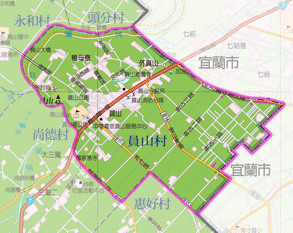 員山村地圖