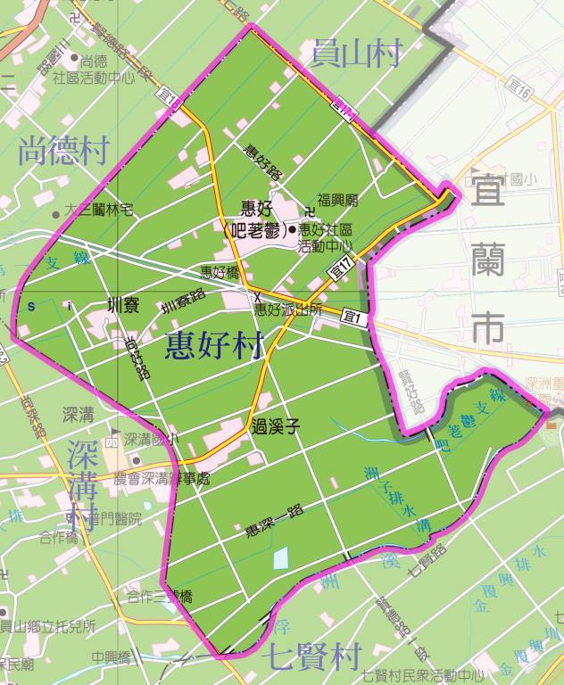 惠好村地圖