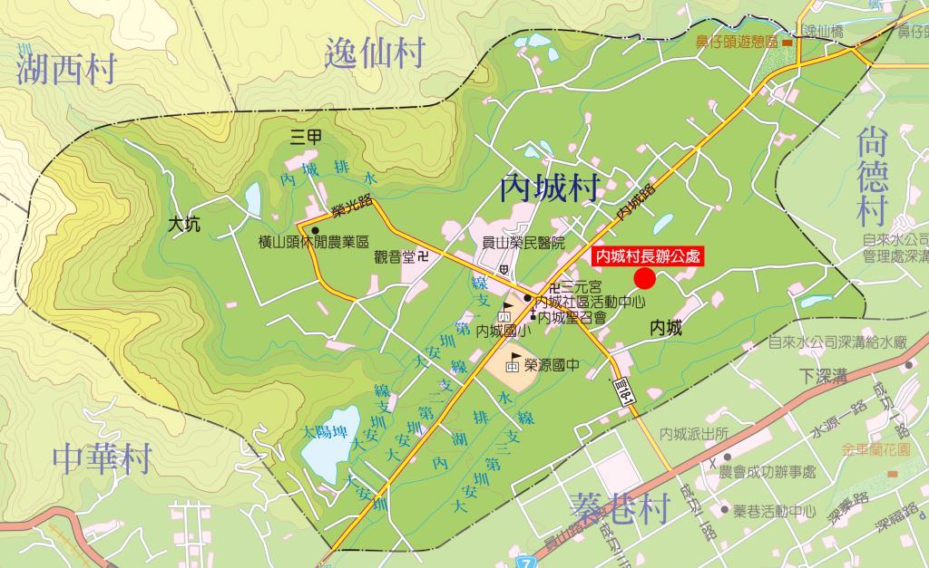 內城村地圖