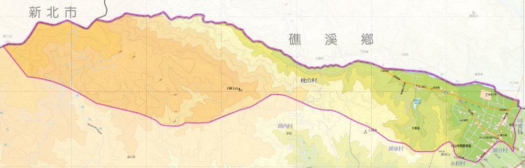 枕山村地圖
