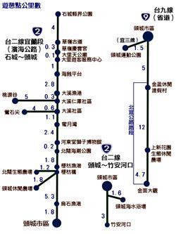 頭城鐵公路交通路線圖
