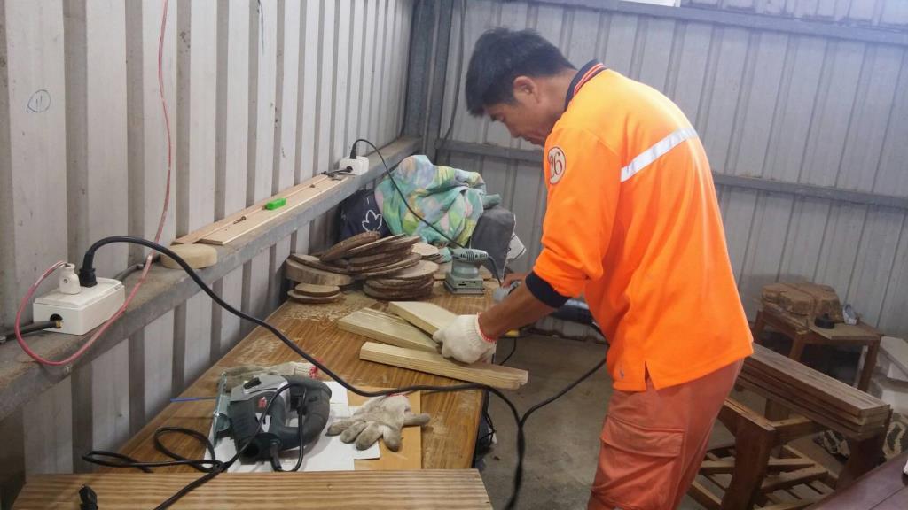 巨大垃圾再利用修繕廠