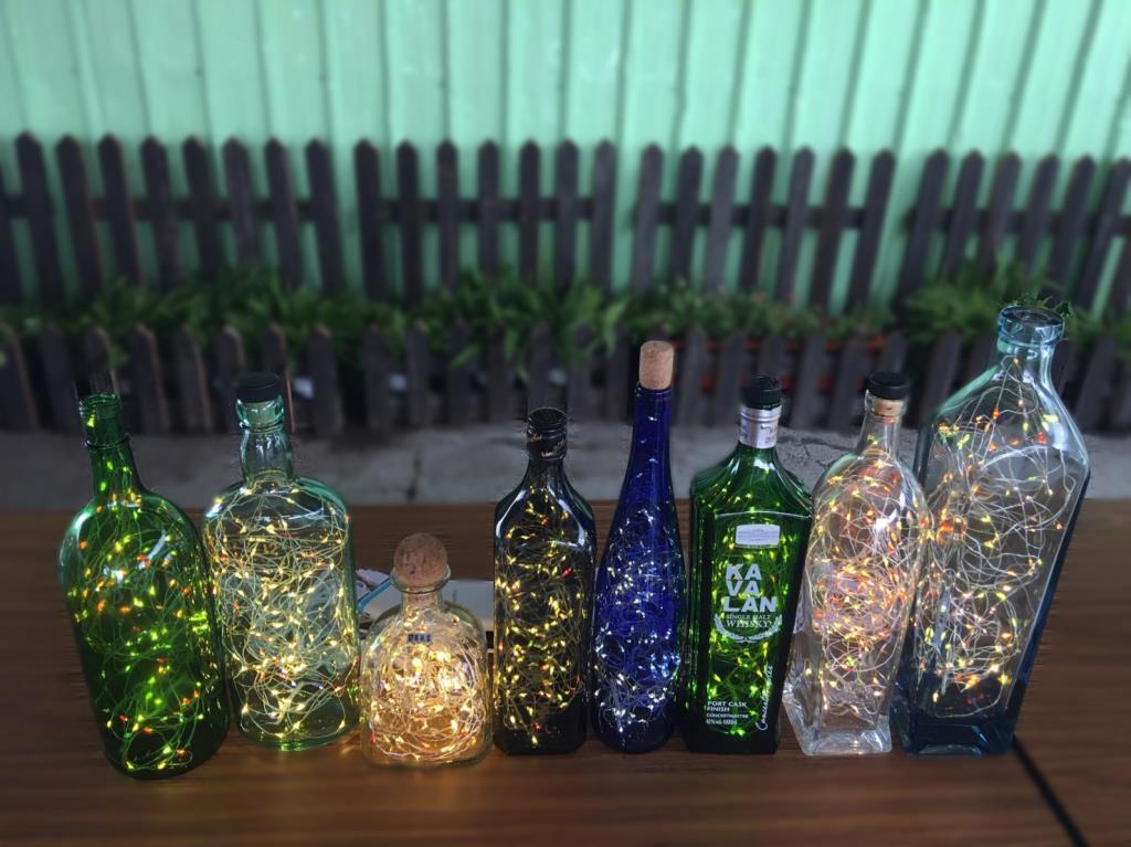 礁溪鄉公所廢玻璃再利用藝術燈