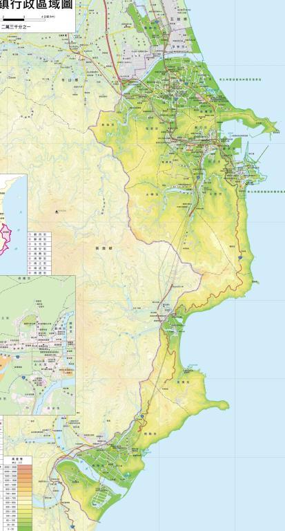 蘇澳鎮行政區域圖