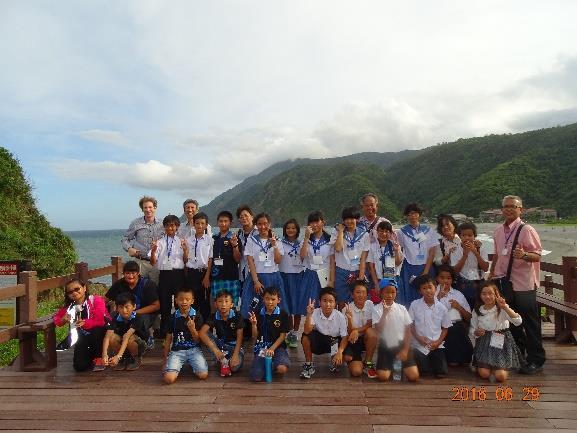 南安國中及岳明國小組團前往日本姐妹巿石垣巿進行教育參訪大合照
