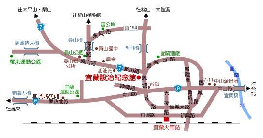 來館交通圖