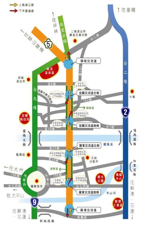 開車南下交通圖