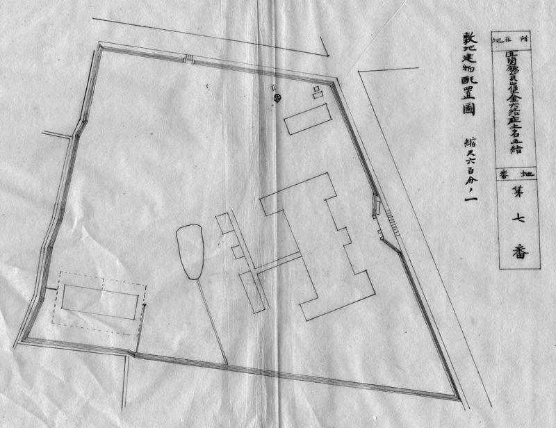 1906年宜蘭廳署及廳長官舍平面圖