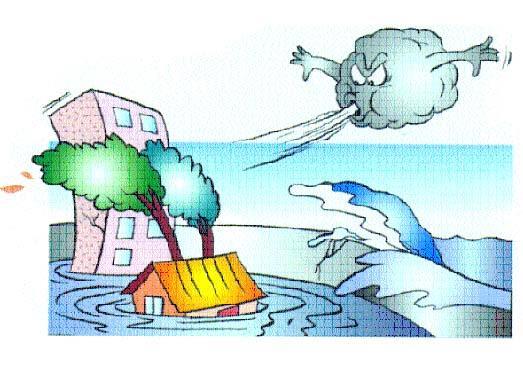 颱風帶來的主要 災害共有風災、 水災及海水倒灌、土石流、坡地崩塌等。