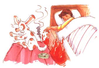 床上吸煙更易失火燒身