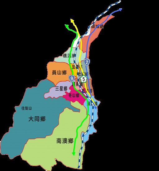 對外交通-宜蘭地圖