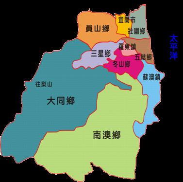 轄區概況-宜蘭地圖