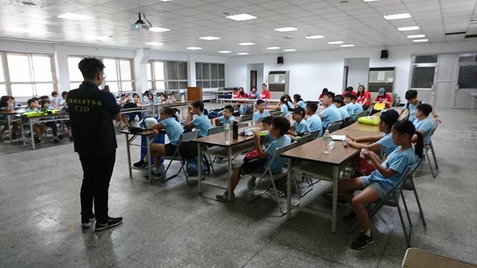 暑假參訪羅東分局Part2-小小偵探VS警察體驗營03