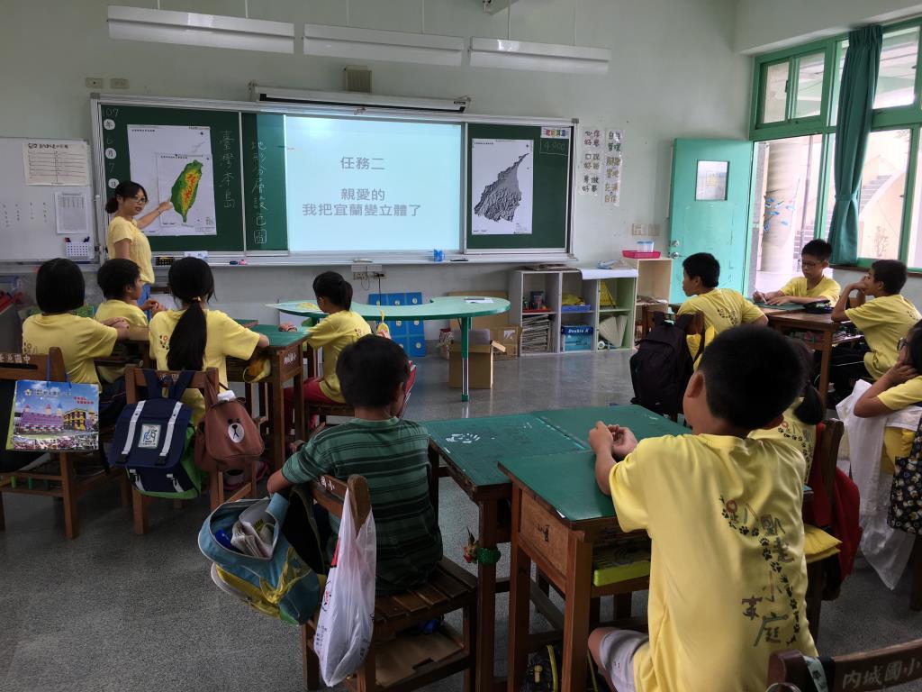 「宜蘭地形圖教案教材」課堂試教:教師講授